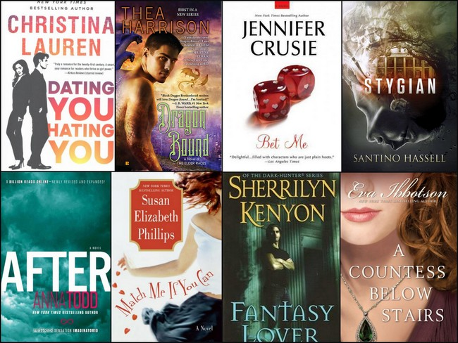 Read-A-Romance Month book covers to check out